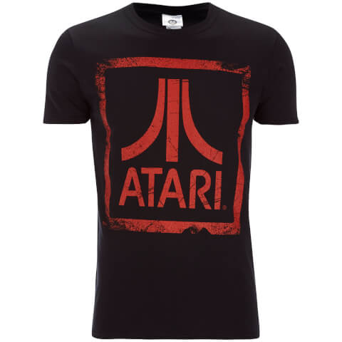 Atari Men's Square Logo T-Shirt - Black