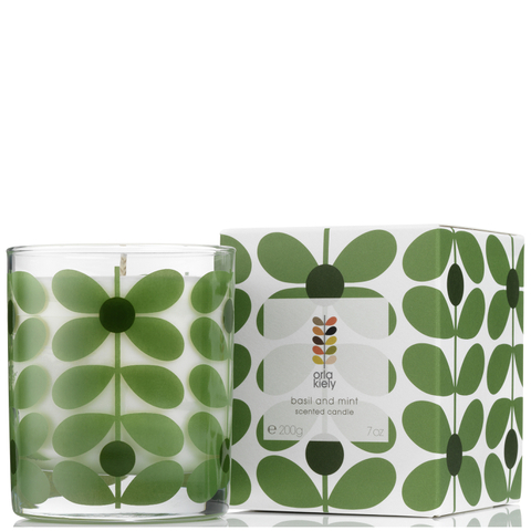 Orla Kiely Scented Candle - Basil & Mint