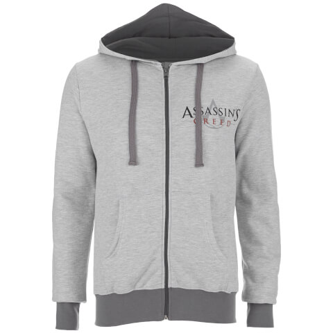Assassin's Creed Men's Logo Zip Hoody - Sport Grey
