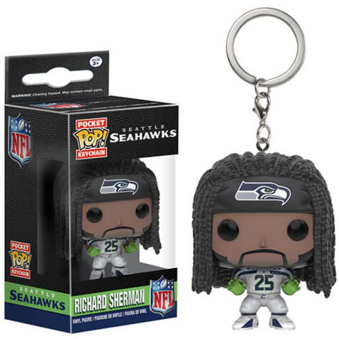 NFL Richard Sherman Pocket Pop! Sleutelhanger