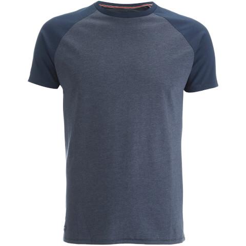 Threadbare Men's Abbot Raglan Sleeve T-Shirt - Navy Marl