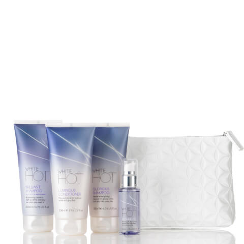 White Hot Cosmetic Case Gift Set