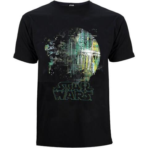 Star Wars: Rogue One Men's Rainbow Effect Death Star T-Shirt - Black