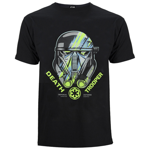 Star Wars: Rogue One Men's Death Trooper Head T-Shirt - Black