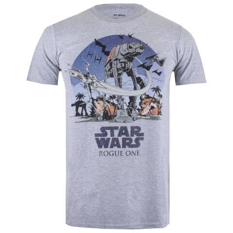 Star Wars Rogue One Men's Fight Scene T-Shirt - Sport Grey