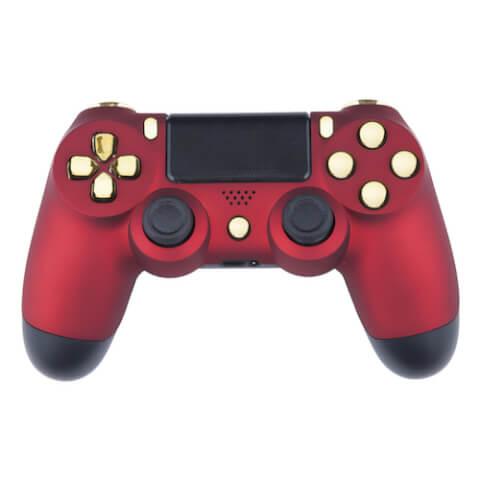 Playstation 4 Custom Controller - Red Velvet & Gold