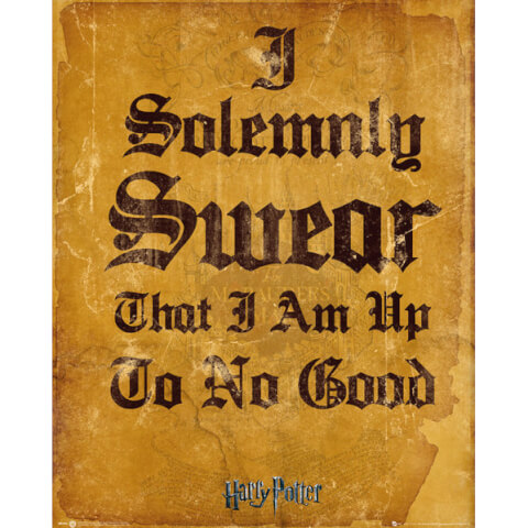 Harry Potter I Solemnly Swear Mini Poster - 40 x 50cm