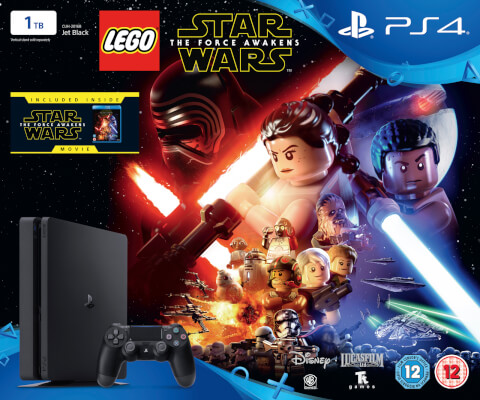 PlayStation 4 Slim 1TB With LEGO Star Wars: The Force Awakens and Star Wars: The Force Awakens Blu-ray