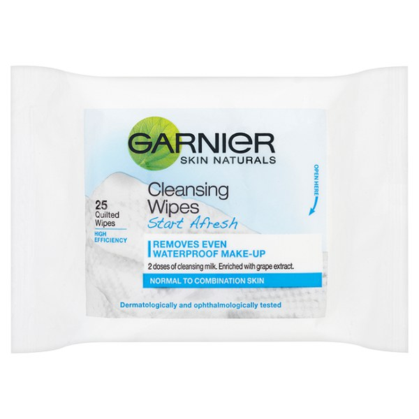 Garnier Skin Start Afresh Cleansing Wipes (25 Pack)