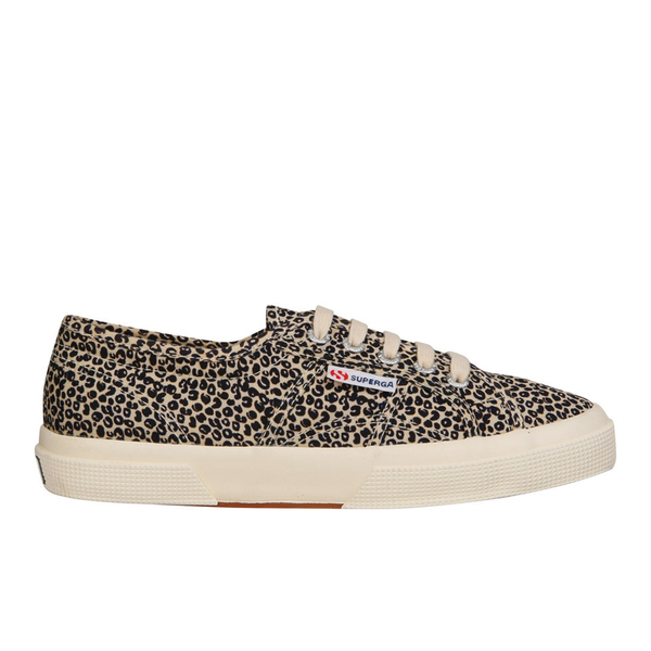 Superga Women's 2750 Spotted Classic Trainers - Beige/Blue