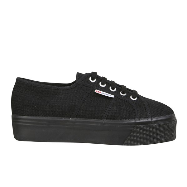 Superga Women's 2790 ACOTW Linea Up and Down Flatform Trainers - Full Black