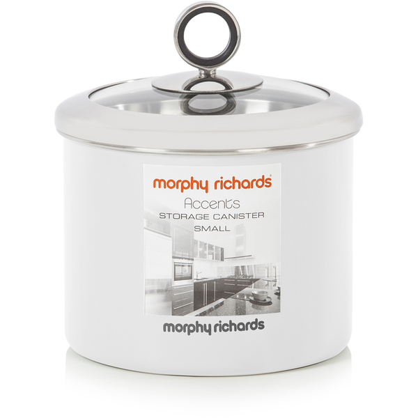 Morphy Richards Towel Pole: Morphy Richards Accents Small Storage Canister - White