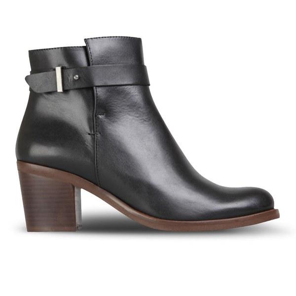 KG Kurt Geiger Women's Sasha Heeled Leather Ankle Boots - Black