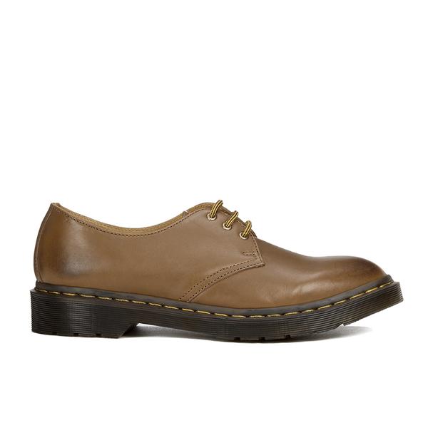 Dr. Martens Men's Milled Dorian 3-Eye Leather Shoes - Brown