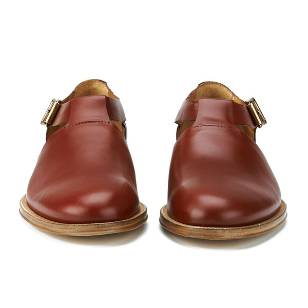Paul Smith Shoes Women's Storr Cut Out Buckle Leather Shoes - Rust