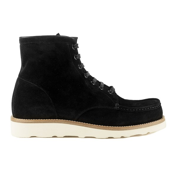 Mr. Hare Mr. Hare Men's Hannibal Lace Up Suede Boots - Nero - 11