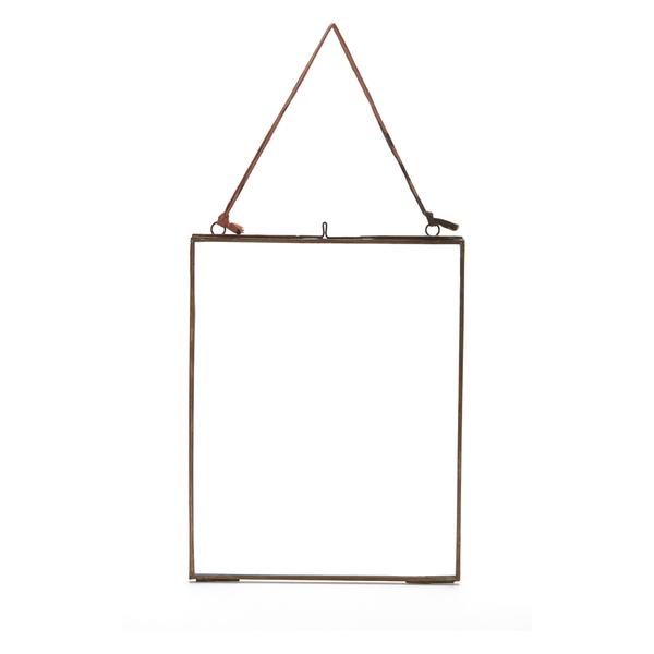 Nkuku Kiko Glass Frame - Antique Copper - Portrait 8