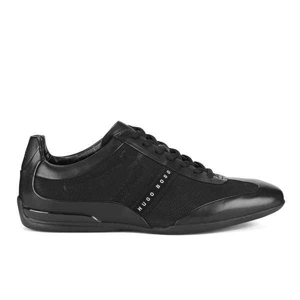 BOSS Green BOSS Green Men's Space Select Leather Trainers - Black - UK 11