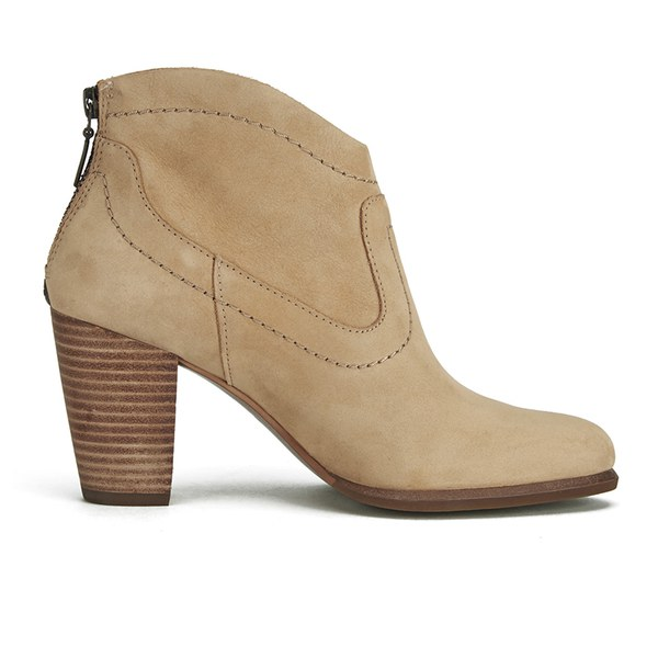 ugg s suede heeled ankle boots sand