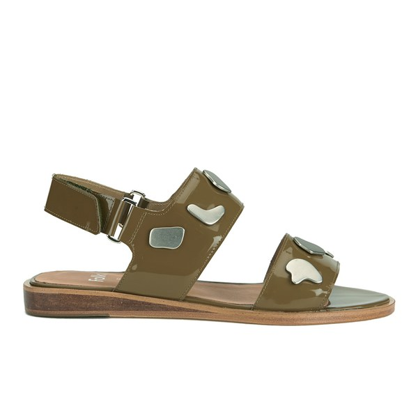 Folk Folk Women's Indra Two Part Patent Leather Sandals - Bronze - UK 6