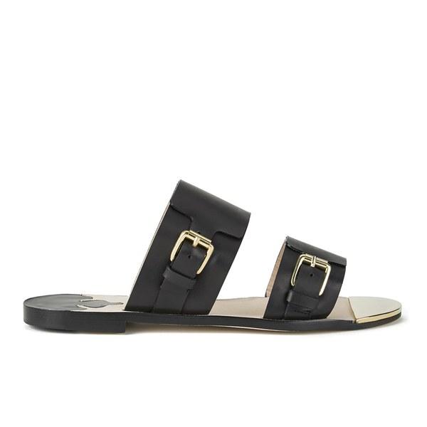 By Malene Birger Women's Avenno Mirrored Flat Sandals - Black