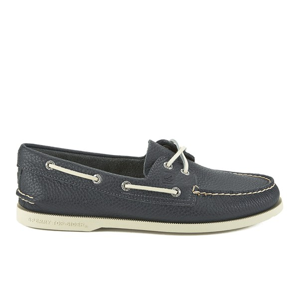 Sperry Sperry Men's A/O 2-Eye Leather Boat Shoes - Navy - UK 11