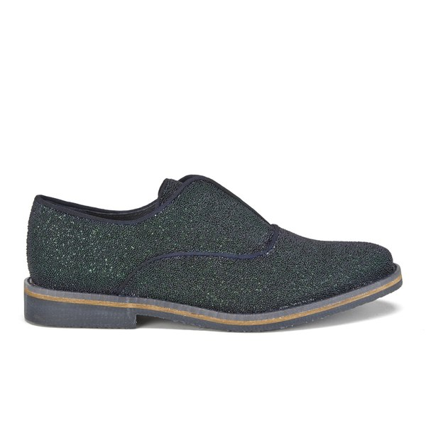 Miista Miista Women's Amy Beaded Sparkle Shoes - Granita Navy - UK 4