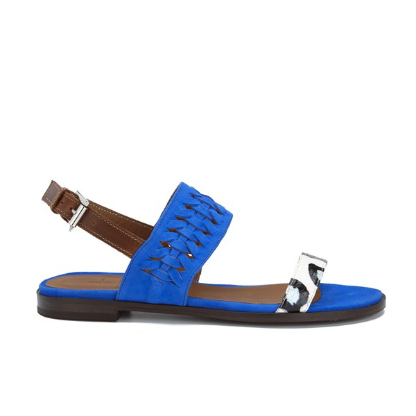 Thakoon Addition Thakoon Addition Women's Taylor 01 Bubble Snake Suede Two Part Flat Sandals - Pacific Blue - UK 3