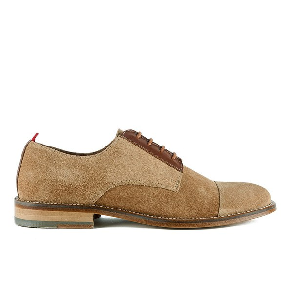 Oliver Spencer Oliver Spencer Men's Banbury Lace Up Suede Derby Shoes - Cognac - UK 9