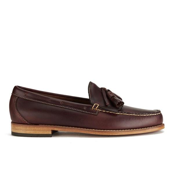 Bass Weejuns Men's Larkin Leather Tassle Loafers - Dark Brown