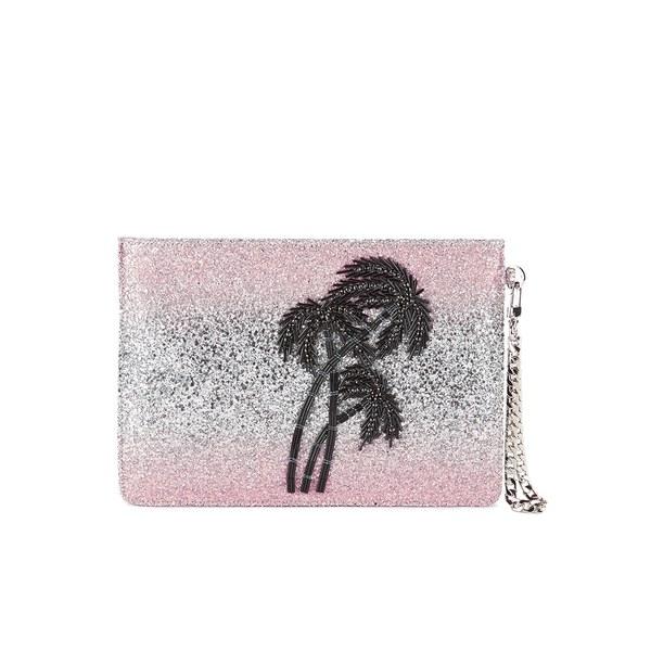 Matthew Williamson Women's Glitter Clutch Bag - Light Pink/Silver