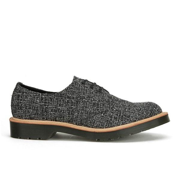 Dr. Martens Men's 'Made in England' Crafted Lester 3-Eye Leather Shoes - Black Melange Silk
