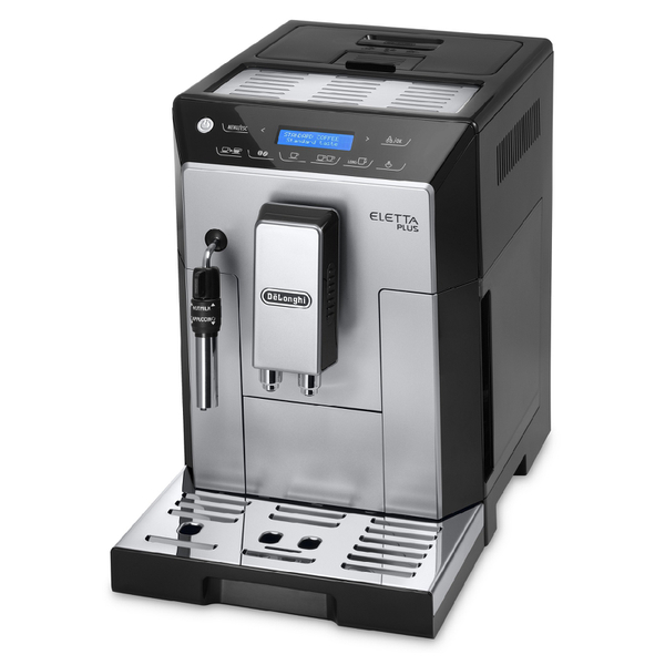 De'Longhi Eletta Plus Bean-to-Cup Coffee Machine - Silver/Black