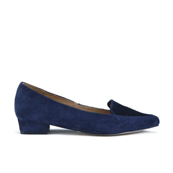 ravel s anaconda suede pointed flat shoes navy