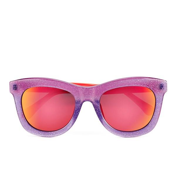 Markus Lupfer Women's Glitter Neon Orange Sunglasses - Lilac