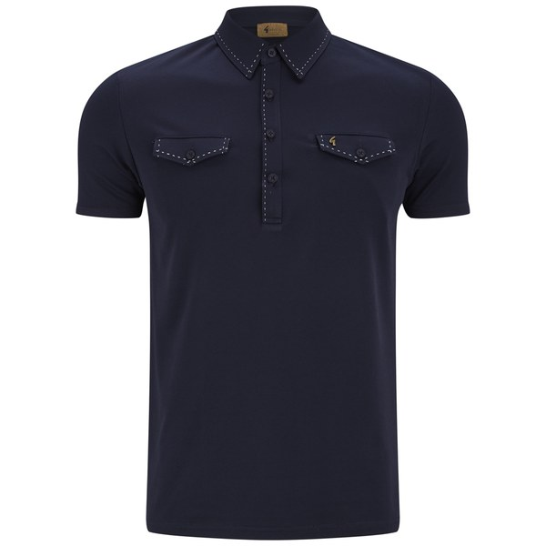 Gabicci vintage men 39 s contrast stitch chest pocket polo for Men s polo shirts with chest pocket