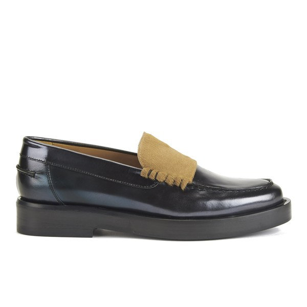Paul Smith Shoes Paul Smith Shoes Women's Logan Leather Slip On Loafers - Graphite - UK 3