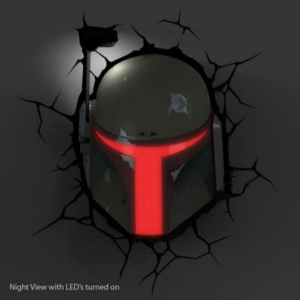 Star Wars Boba Fett 3D Wall Light Merchandise Zavvi.com