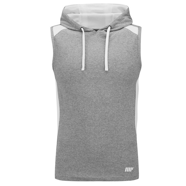 myprotein men 39 s hood singlet grey. Black Bedroom Furniture Sets. Home Design Ideas