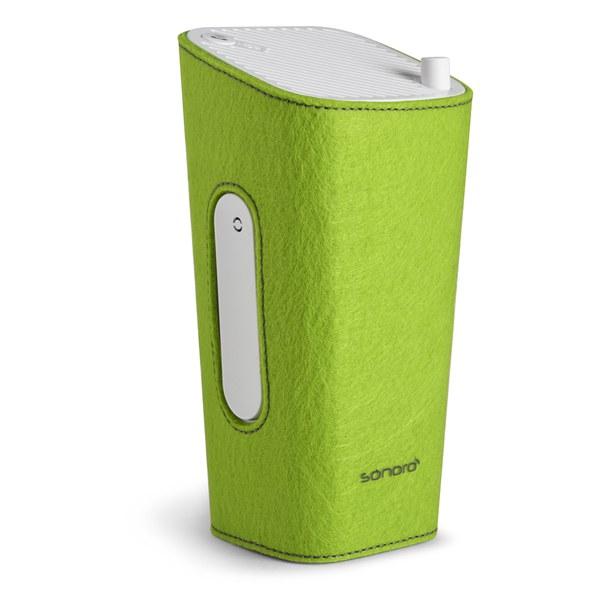 Sonoro Cubo Go New York Portable Bluetooth Speaker - White/Green Felt