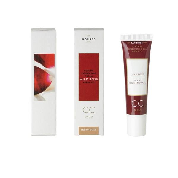 Korres Wild Rose CC Cream - Medium SPF30 (30ml)