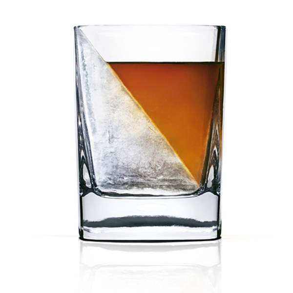whiskey wedge glass and ice mould iwoot. Black Bedroom Furniture Sets. Home Design Ideas
