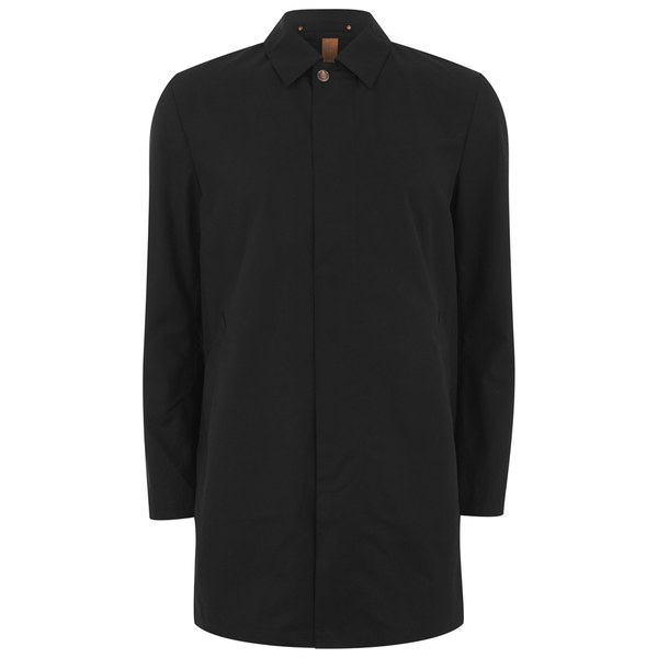 Private White VC Men's Single-Breasted Unlined Ventile Mac - Black
