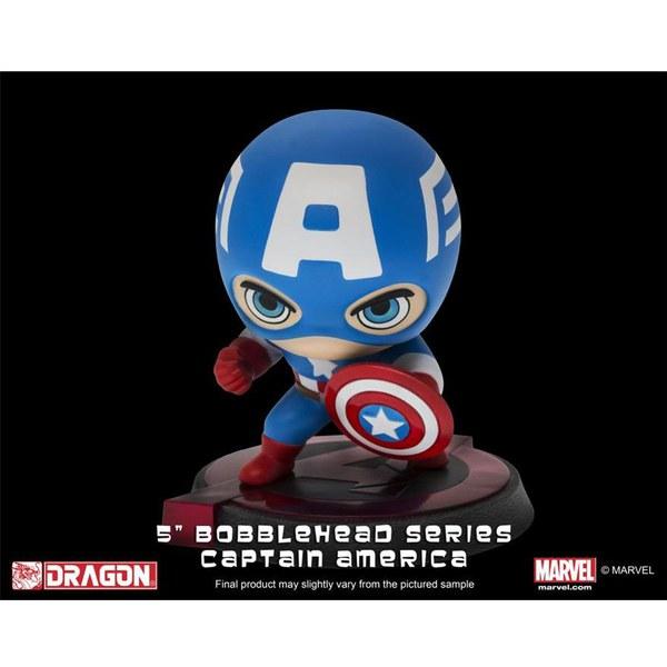 Dragon Bobbleheads Marvel Avengers Age of Ultron Captain America Bobble Head Figure