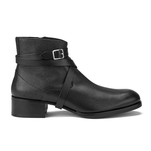 Mr. Hare Mr. Hare Men's Sonny Italian Leather Multi Strap Boots - Black - UK 9