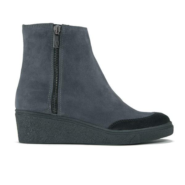 Ilse Jacobsen Ilse Jacobsen Women's Suede Wedged Ankle Boots - Pearl Grey - UK 3