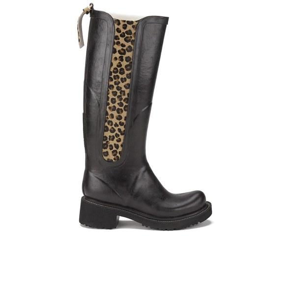 Ilse Jacobsen Ilse Jacobsen Women's Animal Rub Tall Boots - Black - UK 4