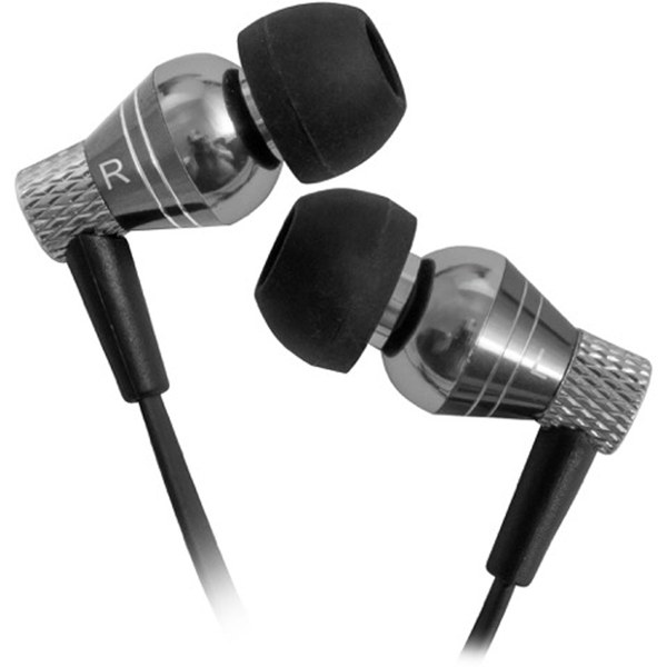 Graphite metal earbuds with mic - over ear earbuds with mic