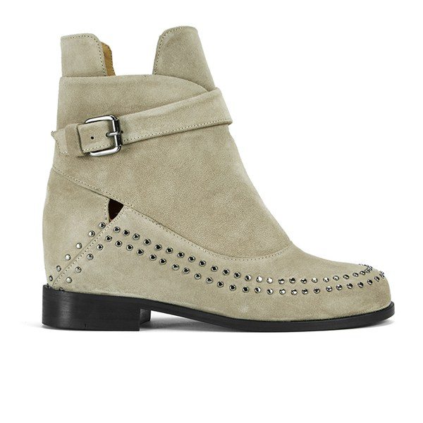 Thakoon Addition Thakoon Addition Women's Fiona 02 Suede Ankle Boots - Grey Suede Studs - UK 6