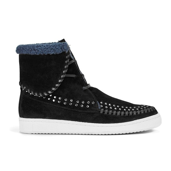 Thakoon Addition Thakoon Addition Women's Warwick 03 Suede Lace Up Ankle Boots - Black Suede Studs - UK 6